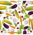 Vegetables realistic seamless pattern vector image