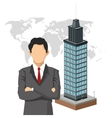 businessman human resources icon graphic vector image