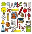 back to school set supplies icon vector image
