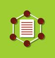 flat icon design collection molecule and lattice vector image vector image