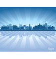 Omsk Russia skyline city silhouette vector image