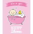 baby girl in bath vector image vector image