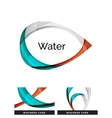 Abstract geometric water drop design vector image vector image