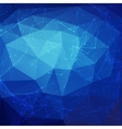 Abstract blue low poly bright technology vector image