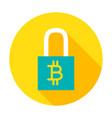 bitcoin security circle icon vector image
