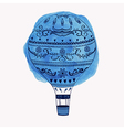 hot air balloon with watercolor round ele vector image