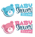 Baby Shower Invitations with Bears vector image vector image