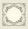 art nouveau ornamental square frame with curly pat vector image vector image