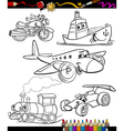 transport set for coloring book vector image