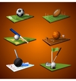 Sport Emblem Icons Set vector image