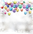christmas balloon background 1411 vector image