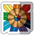 color abstract pencils bacground icon vector image