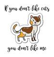 fashion patch element cute cat vector image