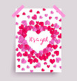 its a girl pink baby shower poster vector image