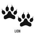 lion step icon simple style vector image