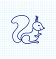 Of zoology symbol on squirrel vector image