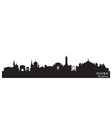 Omsk Russia city skyline Detailed silhouette vector image