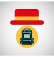 travel tourist hat concept backparker vector image
