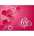 valentines day card with vector image