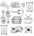 Many object music doodles vector image
