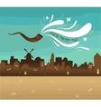 skyline of old city Jerusalem Yom kippur  Jewish vector image