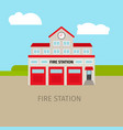 colored fire station building vector image
