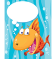 talking fish vector image vector image