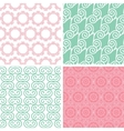 Four pastel abstract swirl motives seamless vector image