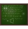 Back school physics vector image vector image