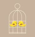 Lovely Birds In Cage vector image vector image
