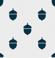 Acorn icon sign Seamless pattern with geometric vector image
