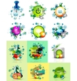 Set of internet buttons Christmas concept vector image