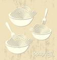 Spaghetti or noodle card vector image