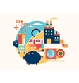 Investing in business icon flat vector image vector image