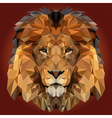 Abstract Low Poly Lion Design vector image