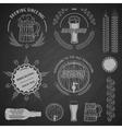 Beer emblems labels and design elements vector image
