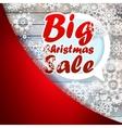 Christmas snowflakes with big sale EPS10 vector image