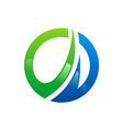 circle business finance arrow logo vector image
