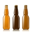 Templates realistic bottles vector image