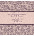 Vintage wedding invitation in romantic style vector image