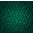 Green vintage floral seamless pattern vector image