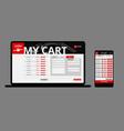 modern japanese food web shop template vector image