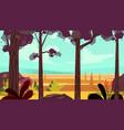 cartoon autumn forest background seamless vector image