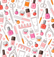 Manicure pattern vector image vector image