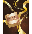 Brown Background with Chocolate Box2 vector image vector image
