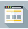 Flat stylized webpage vector image