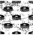 CD stack pattern grunge monochrome vector image vector image