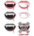 vampire lips vector image