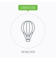 Air balloon icon Fly transport sign vector image