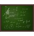 Back school physics vector image